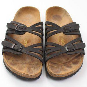 Birkenstock Granada black strappy sandal slip-on